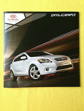 Kia Pro Cee'd official paper brochure sales catalogue November 2009 MINT Ceed