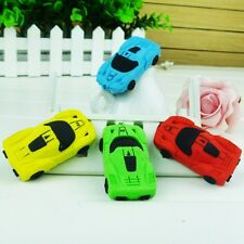 Removable Small Car Shaped Rubber Eraser Color Random 12pc School Office Drawing