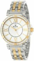 Bulova Women's 98R167 Diamond Accent Two-Tone Bracelet 34mm Watch