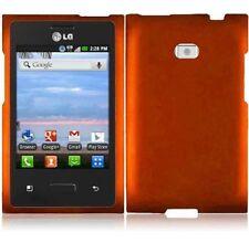 Hard Rubberized Case for LG Optimus Logic L35G - Orange