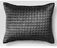 Project 62 Velvet Grid Stitch Pillow Sham Gray Standard  New