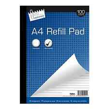 Tallon A4 Refill Pad Lined Ruled Margin 2 Hole Punched 100 Sheets Office School