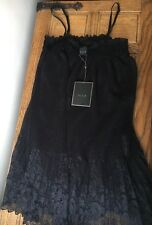 BNWT Vila Black Dress M 8 10 12 Lace Designer Prom RRP£30 Holiday Dress Ball