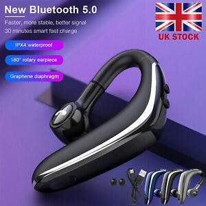 Bluetooth 5.0 Headset Wireless Headphone Earpiece Hands-free Sports Headsets UK