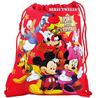 Disney Mickey Mouse and Friends Licensed Red Drawstring Bag School Backpack