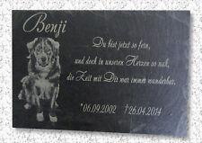 Foto Schiefer Gravur Grabstein Gedenktafel Gedenkplatte Grabplatte 22x16cm