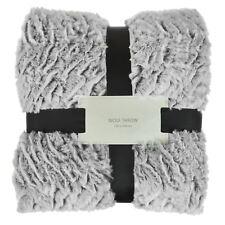 Luxury Wolf Throw Blanket Faux Fur Super Soft Plush Sofa Cover Warm 200x150cm