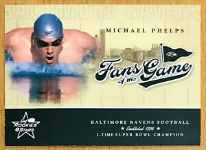 2004 Leaf Michael Phelps Rookies & Stars Fans of the Game #FG-2 ROOKIE RC Card