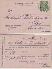 # TRENTO - CART. POSTALE VITTORIO GARBARI viagg. x Cles - 1913