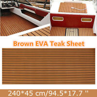 Teak EVA Schaum Boot Yacht Deck Bodenbelag 240x45cm Matte Teppich