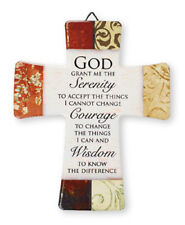 PORCELAIN CROSS GOD GRANT ME THE SERENITY, COURAGE,  WISDOM - OTHERS ARE LISTED
