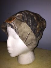 CARHARTT WORK CAMO FLEECE SOCK CAP HAT BEANIE NEW A294