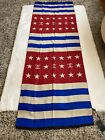 Vtg CHANEL NWT Patriotic Stole Scarf Shawl In Silk/Wool Blend RARE Made In Italy