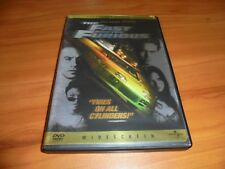 The Fast and Furious (DVD, Widescreen 2002) Vin Diesel Paul Walker Used 1