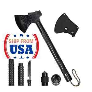 Foldable Portable Camping Axe MultiTool Kit Survival Emergency Gear Hatchet Tool
