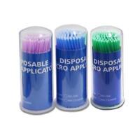 100pcs Dental Disposable Micro Applicator Brush Bendable 1.2/1.5/2.0/2.5mm Prof