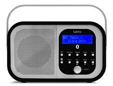 Retro DAB Digital & Radio FM, Bluetooth Portátil Inalámbrico, Aux, Parrilla de alarma dual