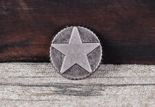 30pcs Engraved Star Leather Stud Tack Rivet Conchos for Belt Hat Leathercraft