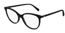 Gucci GG 0550O 005 Black Round Cat Eye Women's Eyeglasses