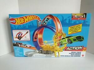 Hot Wheels Energy Track Set Power Loops Playset with Car New Hotwheels Mattel
