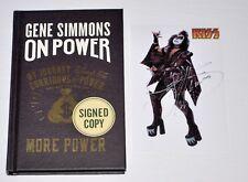 GENE SIMMONS Autographed ON POWER Hardback MINT 1st/1st & Signed Photo RARE!