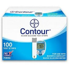 Bayer Contour Blood Glucose Test Strips, 100 count