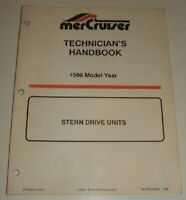 1996 MERCRUISER STERN DRIVE TECHNICIANS Service Manual ALPHA BRAVO BLACKHAWK