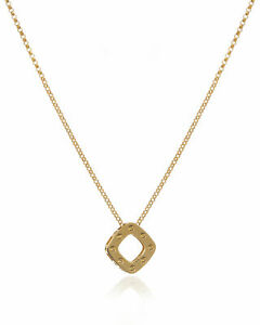 ROBERTO COIN POIS MOI 18K YELLOW GOLD necklace pendant chain NEW