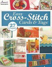 NEW!  Cross Stitch Pattern Book EASY CARDS & TAGS ~ Motifs, Ornaments, Borders +