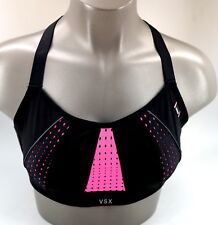 New Victoria's Secret VSX Black Hot Pink Mesh Angel Racerback Sport Bra
