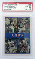 1987 Greg Maddux Sportflics #22 Rookie RC PSA 10 Gem Mint Chicago Cubs