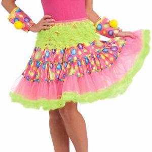 Circus Sweetie Ruffled Skirt Crinoline Clown Women's Costume Accessory Polka Dot