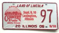 Illinois 2006 County Fair Old License Plate Garage Special Event Car Tag Auto