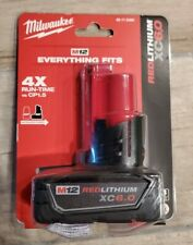 Milwaukee 48-11-2460 M12 brand new Battery pack XC 6.0 Ah EC Li-Ion red lithium