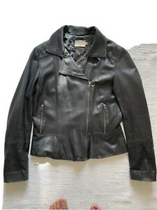 Reiss Leather Jacket Size 12