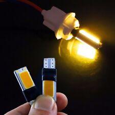 2pcs T10 Yellow COB LED Car Reading Free Decoding Light Lamp Bulbs aa