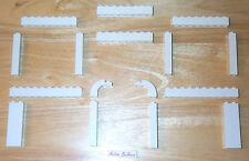 Lego White Bricks 1 x 1 x 5 Tall 1x8, 1x10 Long 10217 Pillar