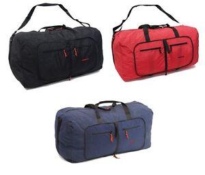 Members Strong Nylon Folding Duffle Bag Holdall Cabin & XL Sizes Choose Colour
