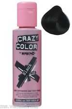 Crazy Color Semi Permanent Hair Colour Dye Cream by Renbow 100ml All Colours Black 030 Cc30