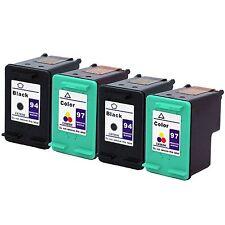 4PKs HP 94 97 #97 Ink Cartridge C8765WN C8763WN HP94 HP97 For Deskjet 6620 6840