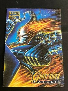 GHOST RIDER 1995 Fleer Marvel Masterpieces CANVAS Limited Edition Insert Card #8