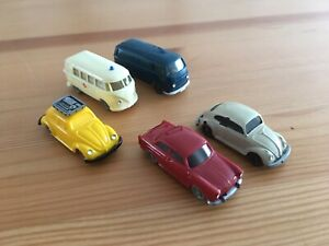 Vintage 1960s Wiking Volkswagen Models HO Scale With Slight Imperfections Parts!
