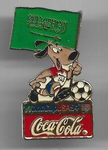 1994 Coca Cola World Cup Soccer Pin Saudi Arabia Flag USA Coke