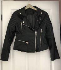 Blank NYC Oh No Vegan Leather Moto Jacket Black Size Small NWOT