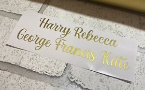 Personalised x 10 GOLD Name Stickers Vinyl Wine Prosecco Glass Hen Wedding #12