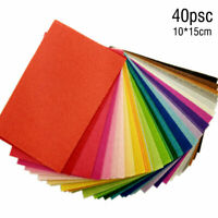 40pcs Assorted Soft Felt Fabric Sheets 10x15cm Squares for DIY Crafts Sewing .