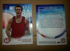 2016 Topps Olympics base card #8 Sam Mikulak, men's gymnastics