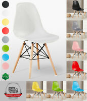 Mila Eiffel Dining Chair Retro Vintage Modern Class Dining Room white black red