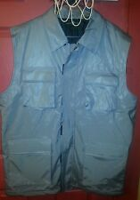 Men's New York board surf thick pocket silver gray vest size xl jacket coat 90s