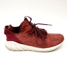Adidas Originals Tubular DOOM Mens Burgundy Athletic Shoes Size US 12